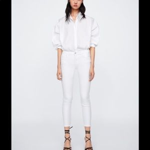 New with tags! Zara white cigarette skinny jeans